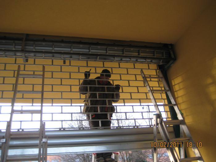 mříž rolovací montáž