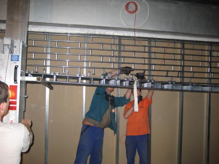 Rolovací mříže montáž