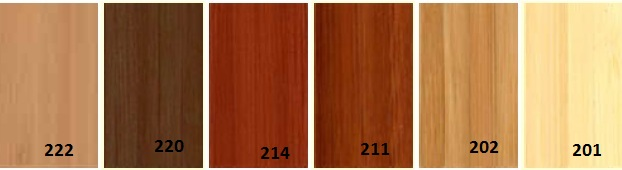 Vzorník barev pro Dřevěné žaluzie