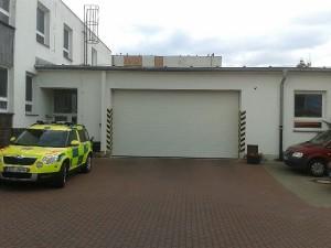 sekční garážová vrata pro nemocnice