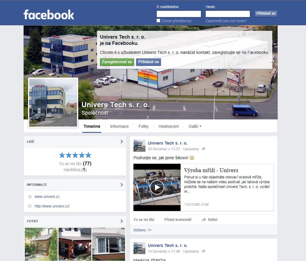 facebook univers