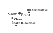 Mapa poboček Univers