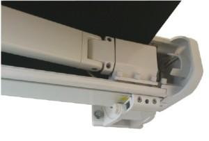 detail kazetové markýzy