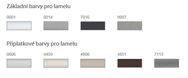 Základní barvy pro Venkovní žaluzie