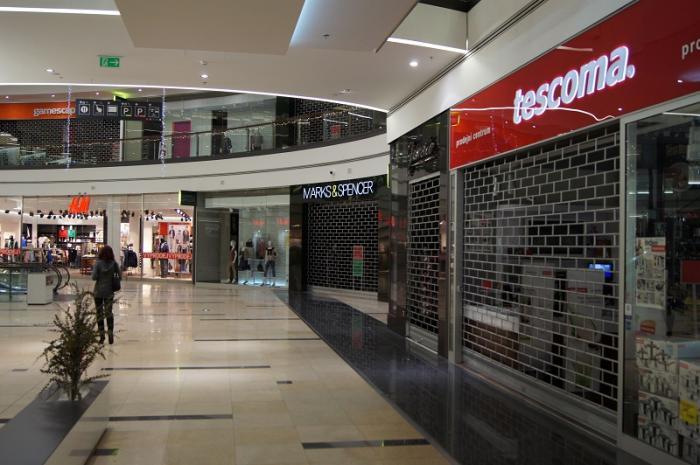 Roletová mříž obchodní centrum Oaza