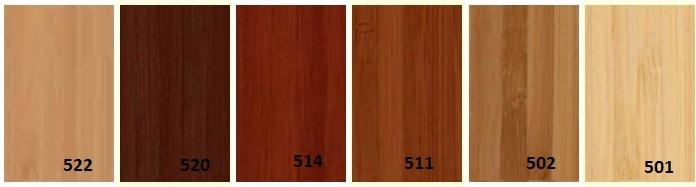 Vzorník barev pro bambusové žaluzie