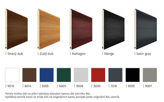 panely - barva