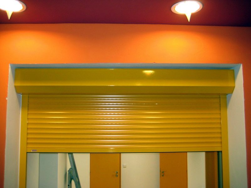 Roleta instalovaná v interiéru - detail