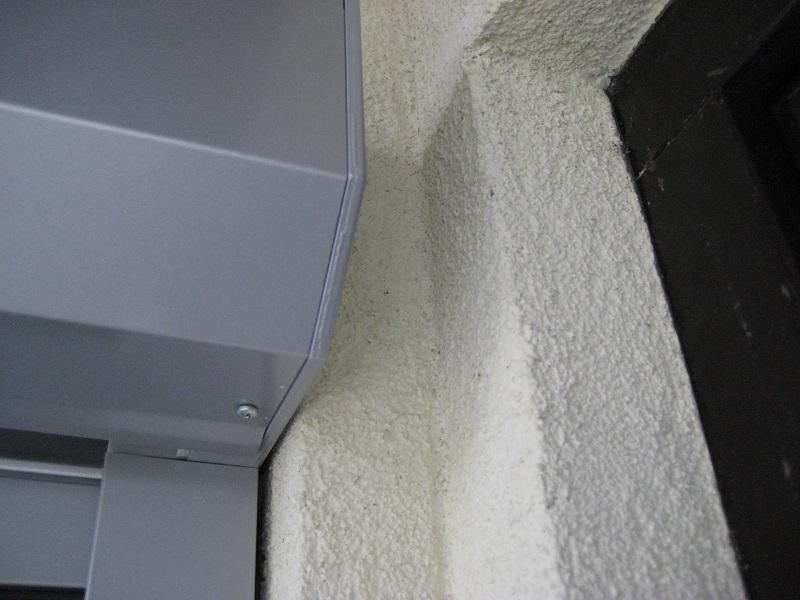 Detail boxu rolety