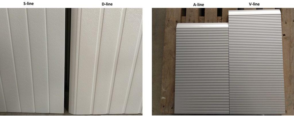 design panelu - D-line a A-line